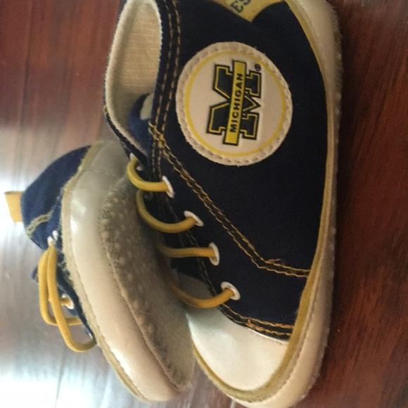 5666918cc6c4c Wolverine Michigan go blue baby boy shoes